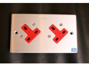 SINE正玄 SW-2L UK 英式雙位冷凍插座(白金)墙插面板