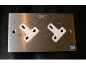 SINE正玄SW - 2 LG  UK  ( Gold )英式雙位冷凍插座(黃金)墙插